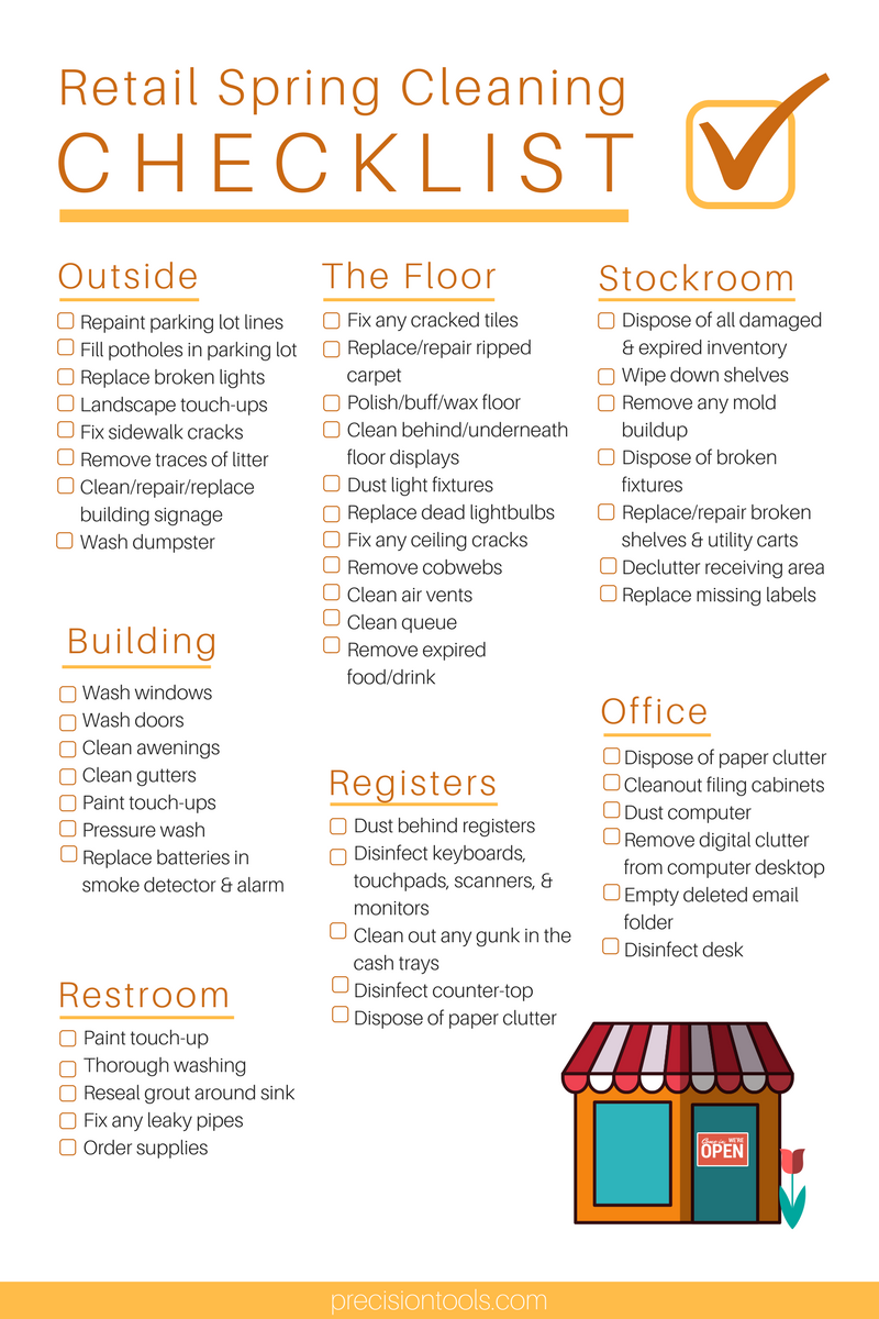 Printable Ultimate Retail Spring Cleaning Checklist Outside Of The Store