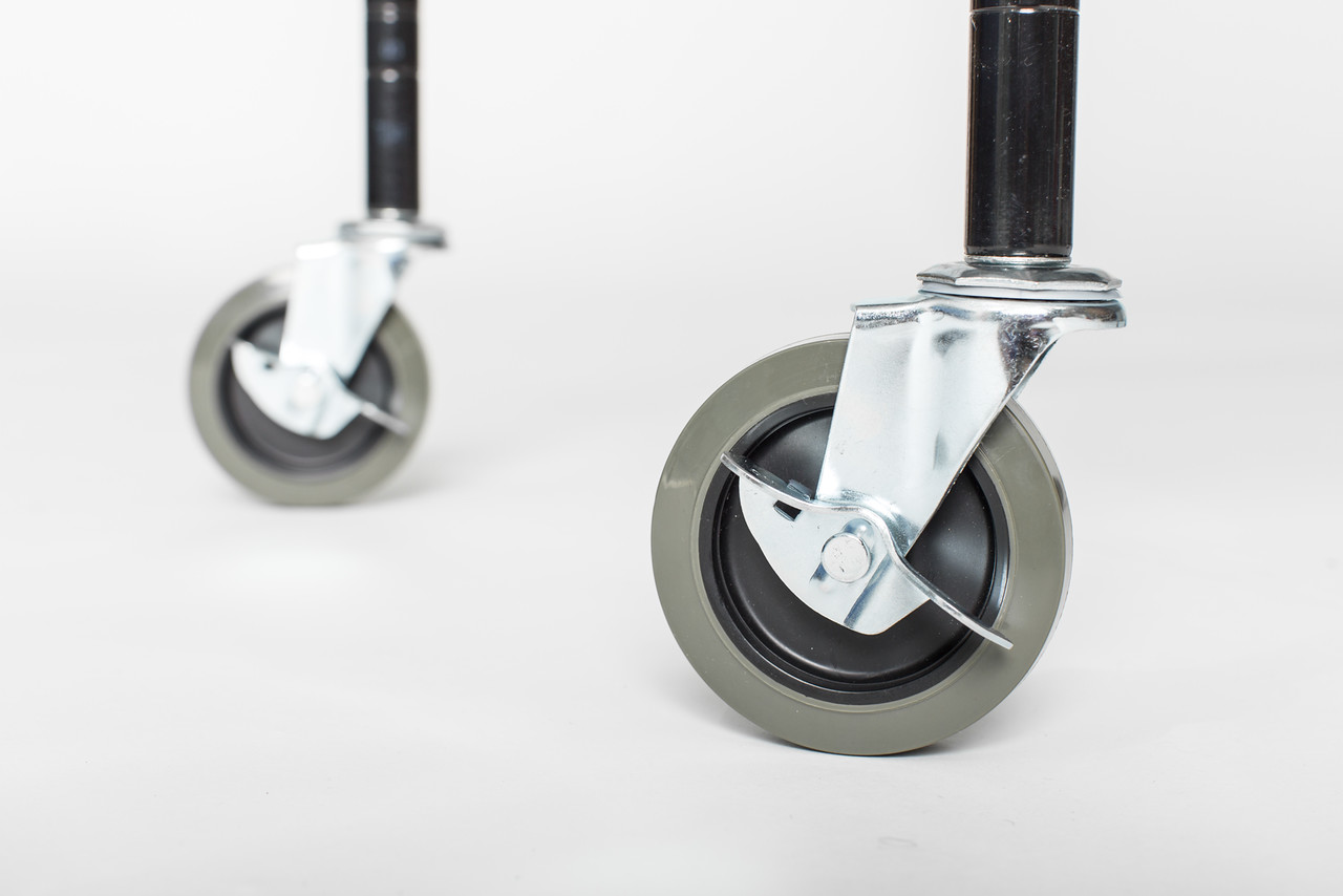 How To Choose The Right Casters For Your Wire Shelving Unit Omega Products Blog